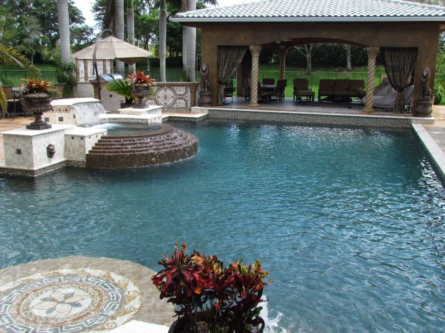 traditional pool