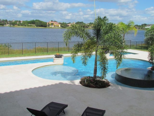 curved swimming pool south Florida