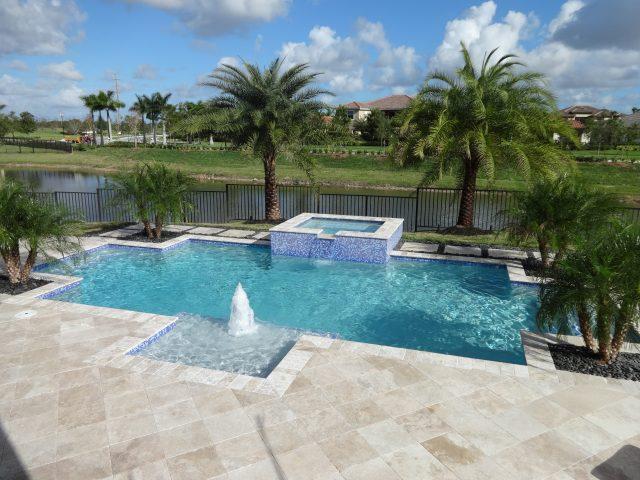 Rectangular swimming pool south Florida